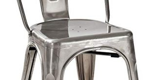 Amazon.com: Crosley Furniture Amelia Metal Cafe Chair - Galvanized
