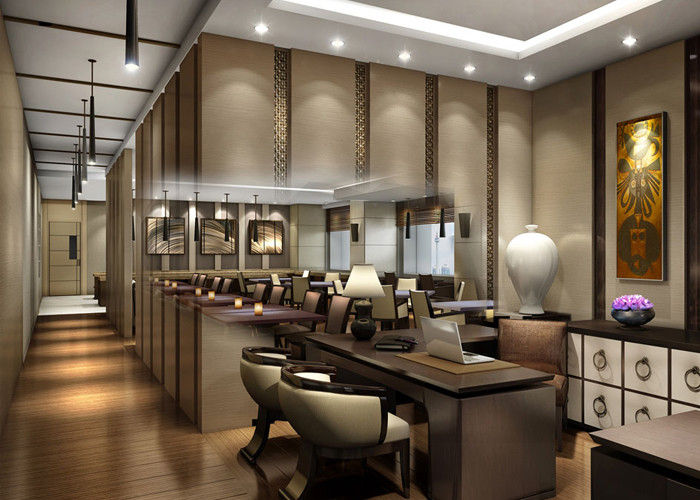 Luxury Wooden Modern Cafe Furniture , Comfortable Contemporary