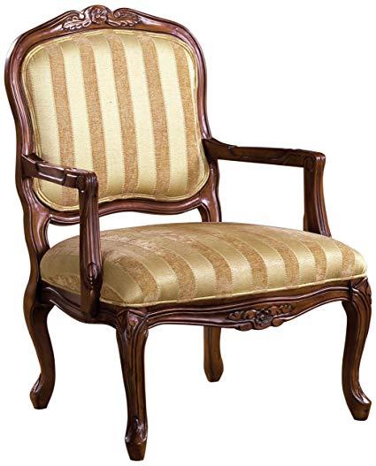 Amazon.com: Furniture of America Solimar Arm Chair, Antique Oak