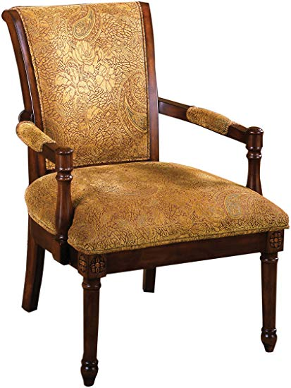 Amazon.com: Furniture of America Traviata Arm Chair, Antique Oak