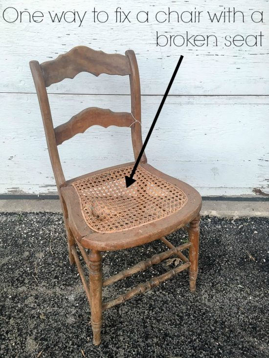 One Way to Fix a Chair with a Broken Seat - Refresh Living
