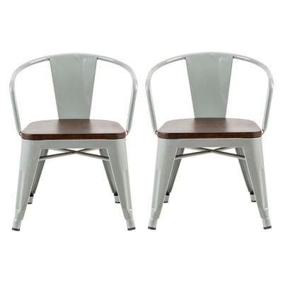 Mixed Material Kids Chair (set Of 2) Skyline Gray - Pillowfort™ : Target