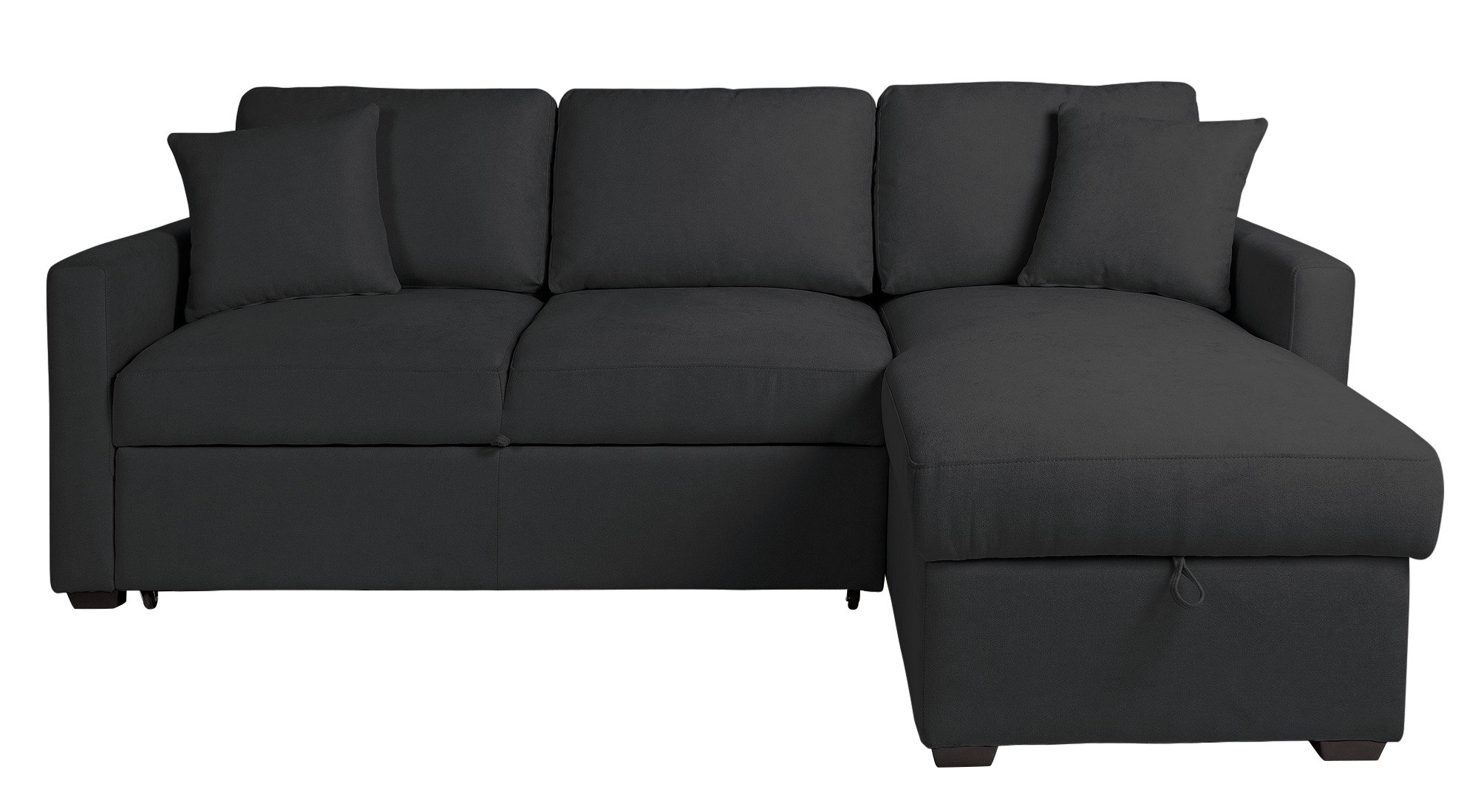 Buy Argos Home Reagan Right Corner Fabric Sofa Bed - Charcoal