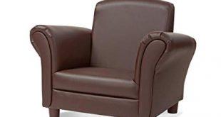 Amazon.com: Melissa & Doug Child's Armchair, Coffee Faux Leather