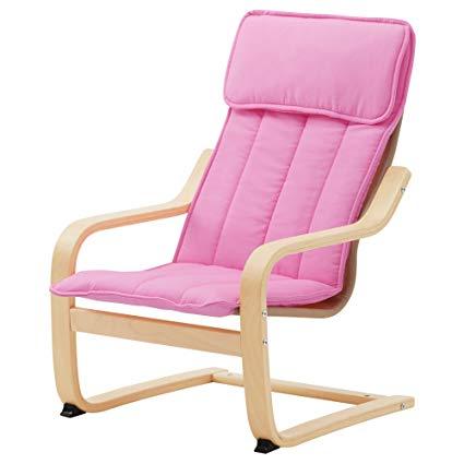 Amazon.com: IKEA POANG Children's Armchair, Birch Veneer, Almas Pink