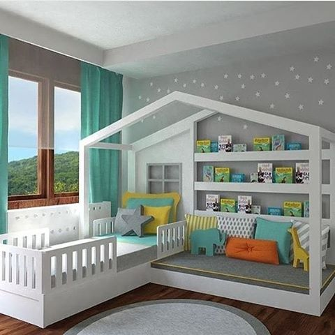 Children's room #childrensroom #kidsroom #twobeds #interior