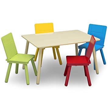Amazon.com: Delta Children Kids Chair Set and Table (4 Chairs