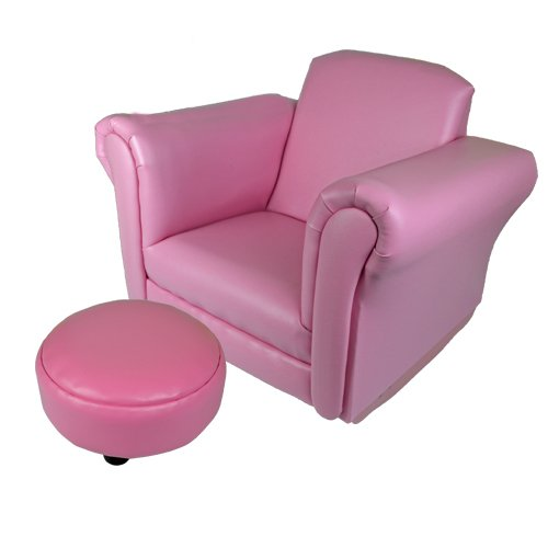 KIDS ROCKING CHAIR SOFA SET FOOT REST CHILDRENS ARMCHAIR RELAX PINK