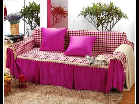 Sofa cover designs ! Elegant Sofa Covers DIY Decoration Ideas - YouTube