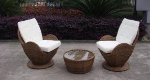 Contemporary Comfortable Sofa Chair , Rattan Wicker Furniture Set