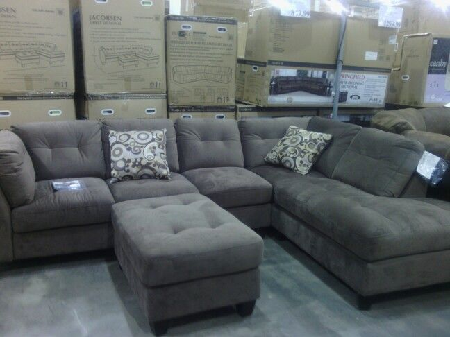 Comfy sectional couch @ Costco and something like this will go into