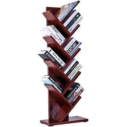 Amazon.com: SUPERJARE 9-Shelf Tree Bookshelf | Thickened Compact