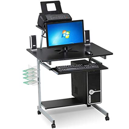 Amazon.com: Yaheetech Mobile Computer Desks with Keyboard Tray