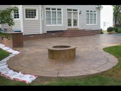 Concrete Patio Ideas~Concrete Patio Ideas And Pictures - YouTube