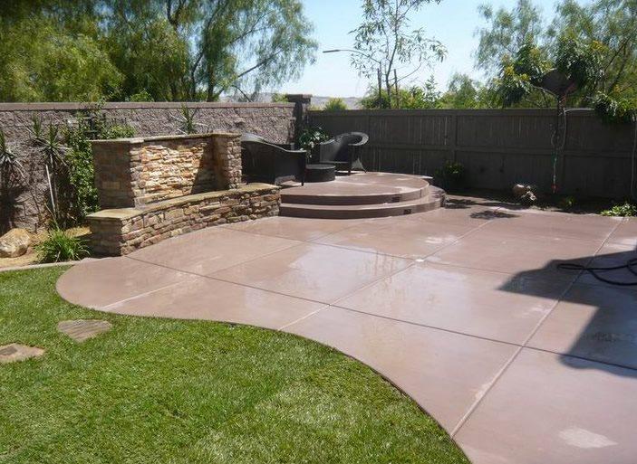 Interesting concrete patio ideas