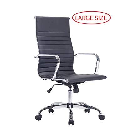 Amazon.com : Sidanli High Back Ribbed Office Chair Large Size Eames