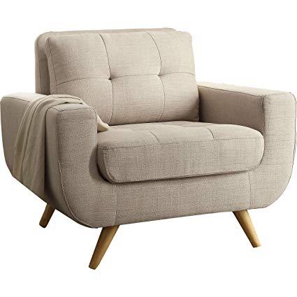 Amazon.com: Rosevera Elena Contemporary Armchair, Beige: Kitchen