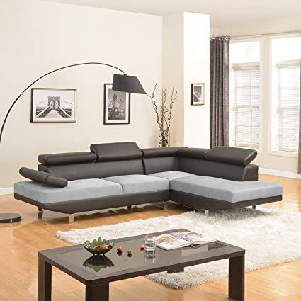 Amazon.com: Modern Contemporary Designed Two Tone Microfiber and