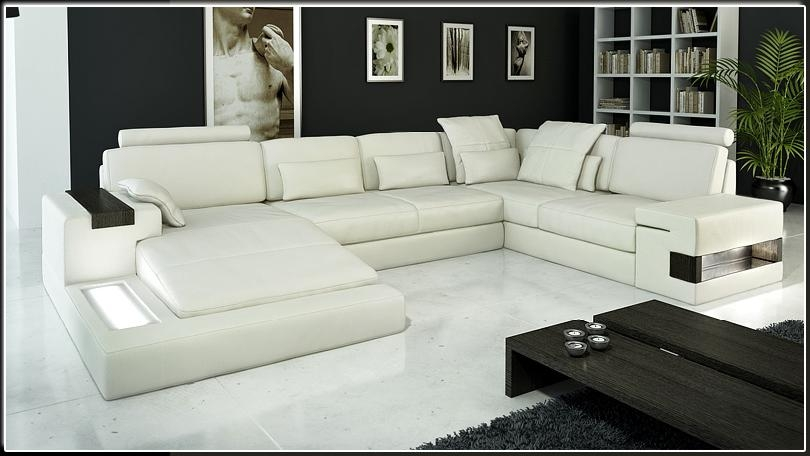 Modern Italian Leather Sectional Sofa CP-1692