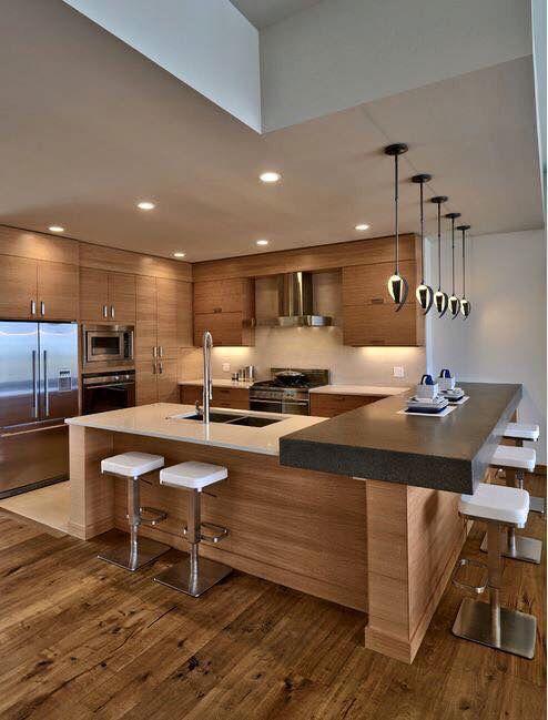 30 Elegant Contemporary Kitchen Ideas | Archi | Pinterest
