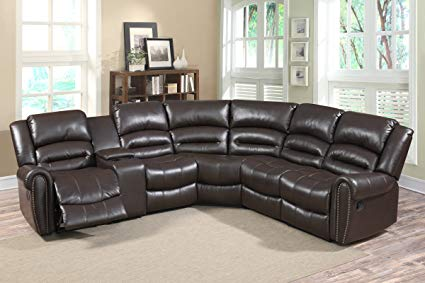 Amazon.com: U.S. Livings 6-Piece Dark Brown Faux Leather Modern