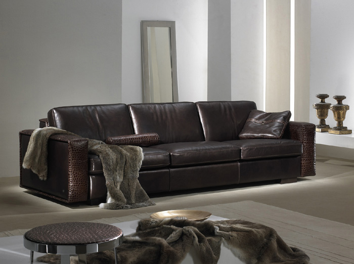Contemporary Leather Sofa u2013 Gamma Kelly Sofa