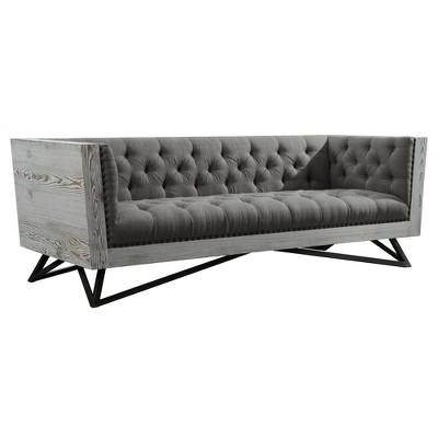 Armen Living Regis Contemporary Sofa Gray : Target