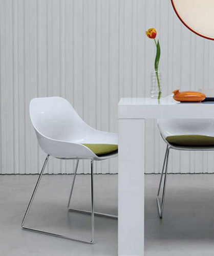 White Modern Dining Chairs - Thetastingroomnyc.com
