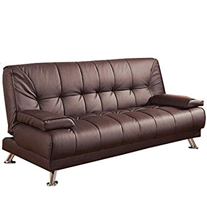 Amazon.com: Convertible Sofa Bed with Removable Armrests Brown