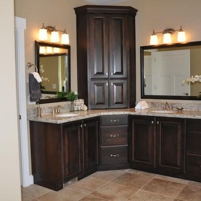 Pin by Erin Hall on HOUSE Build in 2019 | Corner bathroom vanity