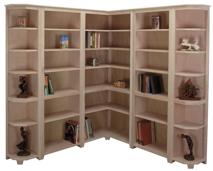 Arthur Brown Custom Corner Bookcases