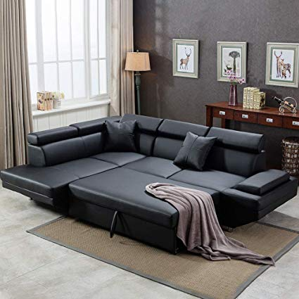 Amazon.com: Corner Sofa Set, 2 Piece Modern Contemporary Faux