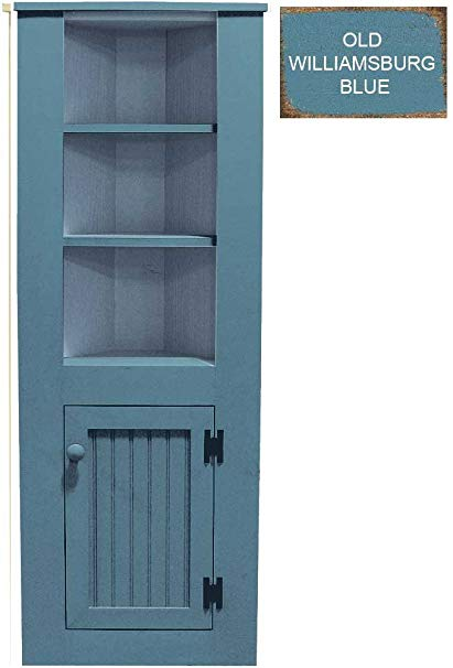 Amazon.com: Sawdust City Small Wooden Corner Hutch (Old Williamsburg