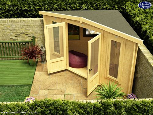 she-shed-the-corner-office | She Sheds and Man Caves | Pinterest