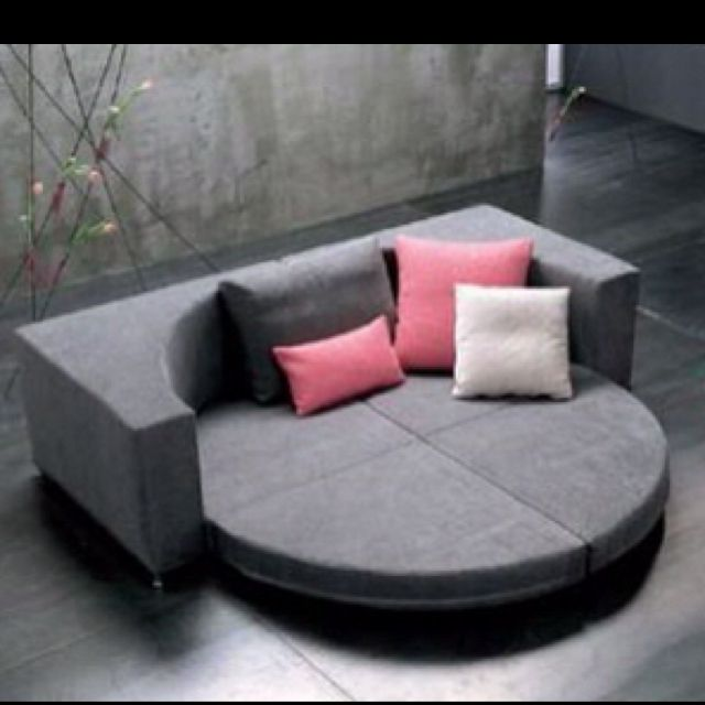 Round couch bed Too cool! | New home decor | Sofa bed design, Sofa