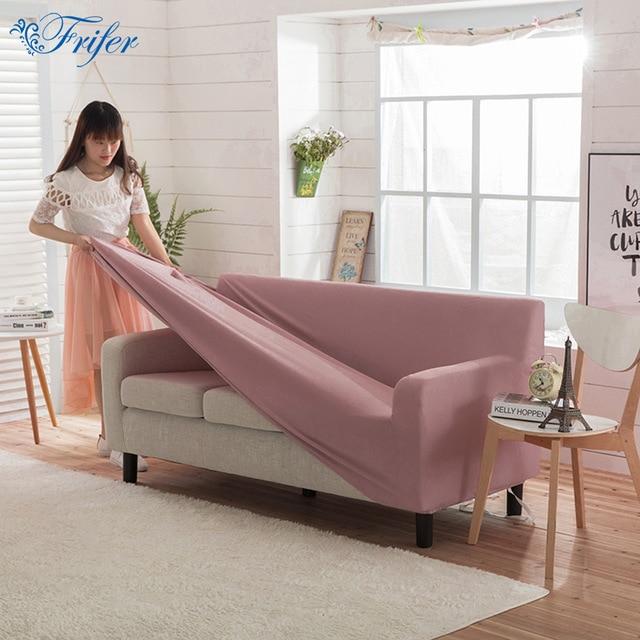 Universal Solid Polar Fleece Stretch Sofa Covers Super Soft Elastic