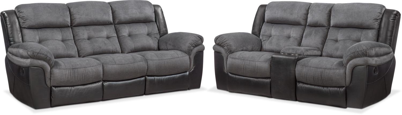 Tacoma Manual Reclining Sofa and Loveseat Set | Value City Furniture