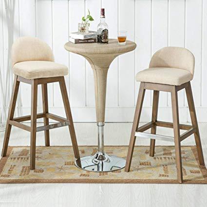 Amazon.com: Counter Height Bar Stools Set, Fabric Upholstered Modern