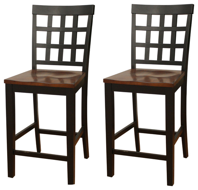 American Heritage Mia Square Block Back Counter Height Dining Chairs