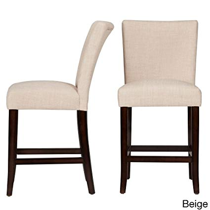 Amazon.com: Parson Classic Linen Counter Height Chairs Bar Stools