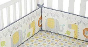 Amazon.com : Cuddletime Globetrotter Crib Bumper, Gray : Baby