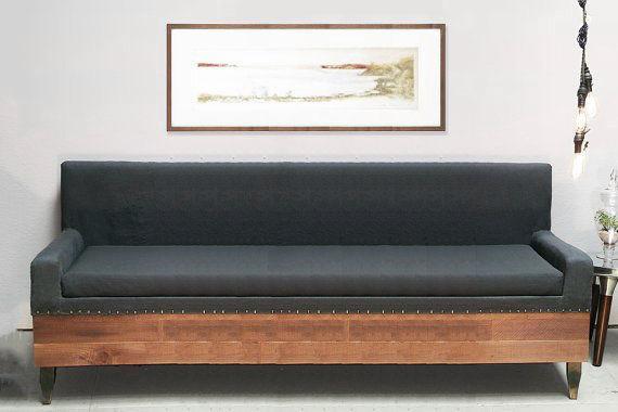 Custom Reclaimed Barn Wood Modern Industrial Sofa u2013 Hammers and Heels
