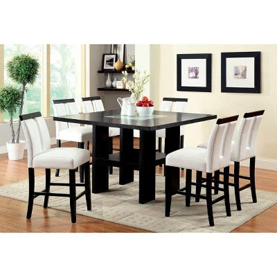 IoHomes Dinette Set Wood/Galaxy Black/White : Target