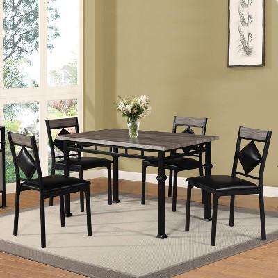 5pc Dinette Set - Black - Home Source Industries : Target