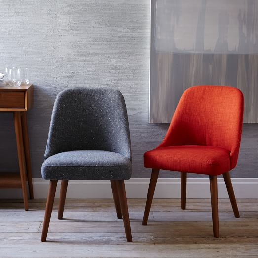 Mid-Century Upholstered Dining Chair | west elm