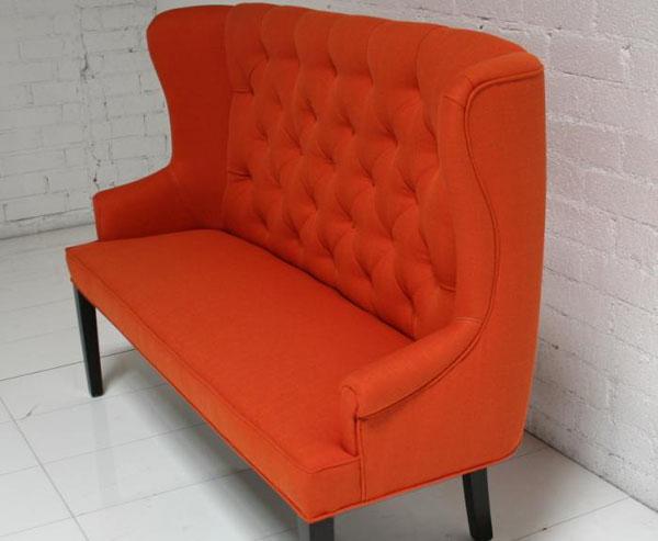 Orange Florence Dining Loveseat - Chairblog.eu