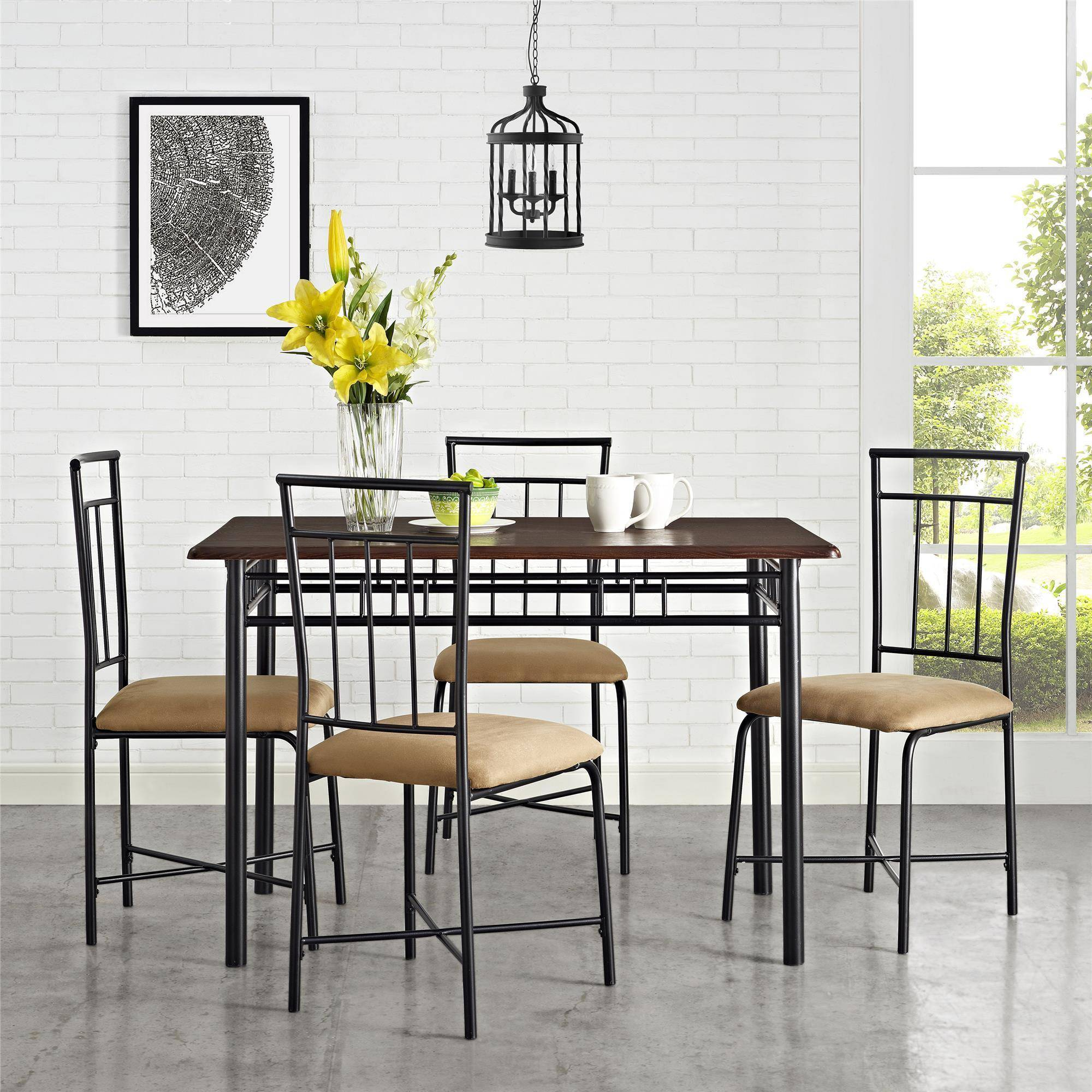 Mainstays 5 Piece Dining Set, Multiple Colors - Walmart.com