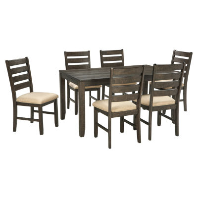 Signature Design by Ashley® Linwood 7-Piece Rectangular Dining Set