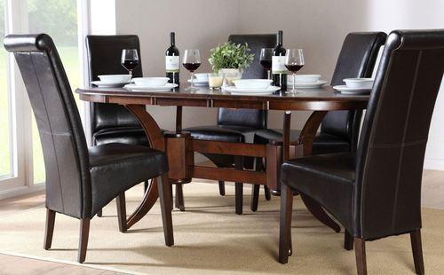 Latest Design Dining Table, गोलाकार डाइनिंग मेज