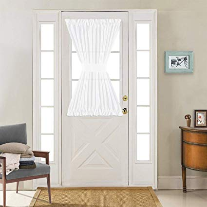 Amazon.com: Linen Textured French Door Panel Curtains Open Weave